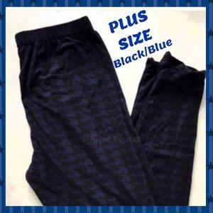 Pants - 🦋PLUS SIZE FULL LENGTH LEGGINGS -BLK & BLUE